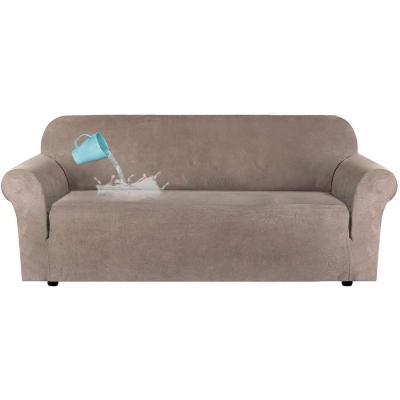 Funda de sofá de felpa de terciopelo de alta elasticidad