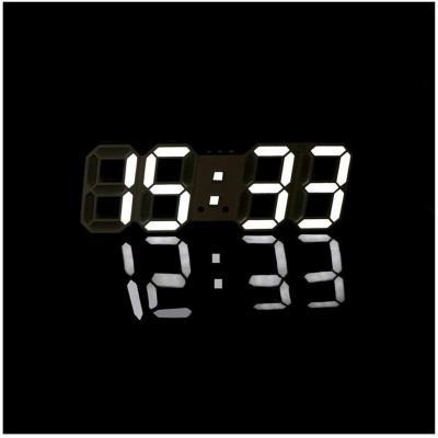 Ardux, orologio da parete a LED, multifunzione, digitale, con visualizzazione orario 12H 24H, sveglia, funzione di ripetizione automatica e luminosità regolabile
